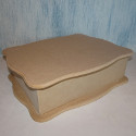 MDF Wave Top Box with drop on lid large