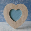 Heart Shaped Photo Frame with plastic Window and Stand