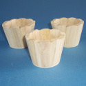 Set of 3 Mini Scalloped top Pots