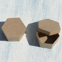 Hexagonal Paper Mache Box (set of 2)