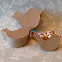 Set of 3 Bird Shaped Papier Mache Boxes