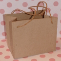 Rigid Paper Mache Bag with paper string handles