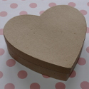 Heart Shaped Papier Mache Box