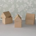 Set of 3 Papier Mache House shaped Box
