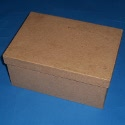 Paper Mache rectangular box with drop on lid