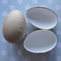 Set of 2 Paper Mache Split Eggs with white lining