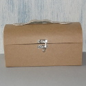 Papier Mache Suitcase with rounded top, clasp & handle
