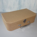 Papier Mache Suitcase with metal clasp & handle
