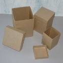 Set of 3 Tall Papier Mache Boxes