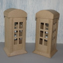 Papier Mache Telephone Box Money Box