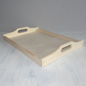 Pine Tray, plywood base, with slot handles
