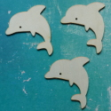 Set of 3 Dolphin Shapes Plywood