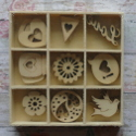 Box of 27  Love Shapes (3 each of 9 designs) as shown