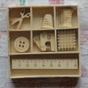 Box of 9 different Sewing Shapes (3 of Each)
