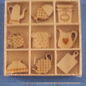 Box of 27  Breakfast shapes (3 each of 9 designs) as shown