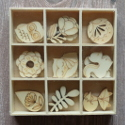 Box of 27  Woodland shapes no. 2  (3 each of 9 designs) as shown