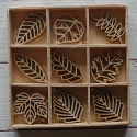 Box of 27  Leaf shapes (3 each of 9 designs) as shown
