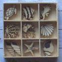 Box of 30 Sea Life Shapes no.2 ( 3 each of 8 designs, & 6 fish) as shown