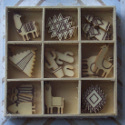 Box of 27 Llama / Alpaca South American theme  shapes (3 each of 9 designs) as shown