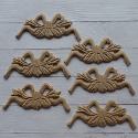 Set of 6 MDF Bow shapes