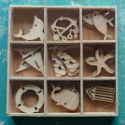 Box of 27  Sea Life Shapes (3 each of 9 designs) as shown