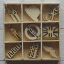 Box of 27  London Shapes (3each of 9 designs) as shown