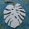 Plywood Monstera Leaf with string to hang