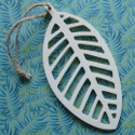 Plywood Leaf shape with string to hang