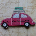 Wooden Car shape decoration