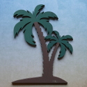 Wooden Palm Tree Shape decoration, as shown (stands available see item SA35)