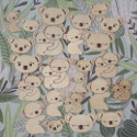 Pack of 24 Koala Plywood shapes with laser cut design as shown