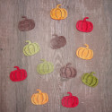 12pc Wooden Pumpkin Card Topper Embellishments, as shown