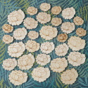 Pack of 30pc Wooden Flower Shapes, 10 each of 3 sizes, as shown
