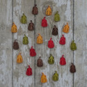 Pack of 24 mini Gourd / Pumpkin shapes, as shown
