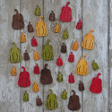 Pack of 12 large Gourd / Pumpkin shapes, as shown