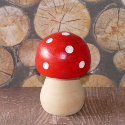 Painted Wooden Toadstool  with Round top ex. large