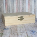 Small Rectangular Box with hinge & clasp, Pine sides & Plywood top & base