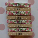 Set of 8 Mr & Mrs Pegs wedding decoration