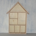 House Shaped Shelf with 7 compartments & Hooks for Hanging