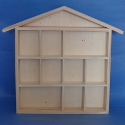 House Shelf with 11 compartments, Pine sides ply compartments & back