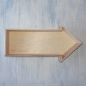 Wooden Arrow Shelf with hooks to hang in portrait or landscape