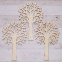 Set of 3 Plywood tree shapes