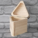 Triangle shaped Box with Hinge & magnetic catch large