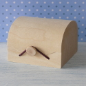 Gift box with veneer top and elastic clasp