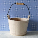 Wooden Bucket with metal Handle small