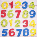 Pack of 20 Painted Wooden Numbers