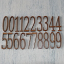 Set of 20 Plywood Numbers (2 each 0-9)