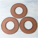 Set of 3 wooden wreath ring  base, plaque to decorate (large)