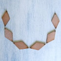Set of 6 Plywood Vintage Style Diamond shape, hole at each side, for tags & mini Bunting