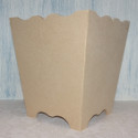 MDF small bin / planter with scalloped top